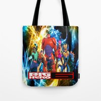 big hero 6 Tote Bags featuring Big Hero 6 by ezmaya