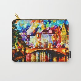Tardis Art Painting At The Bridge Carry-All Pouch