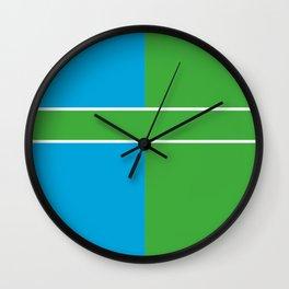 Team Color 6...Light blue,green Wall Clock