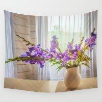 iris Wall Tapestries featuring Iris by Svetlana Korneliuk