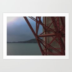 Golden Gate Geometry 1 Art Print