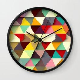 Triangies Wall Clock