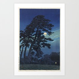 """Moon at Magome"" by Hasui Kawase, 1930 Art Print"
