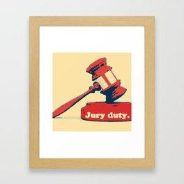 Jury Duty Framed Art Print