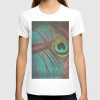peacock feather T-shirts featuring Peacock Feather by Laura Mazurek