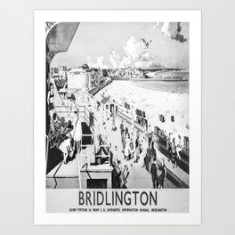 retro monochrome Bridlington Art Print