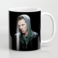benedict Mugs featuring Benedict Cumberbatch by Veruca Crews