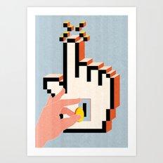 Boosting Clicks Art Print