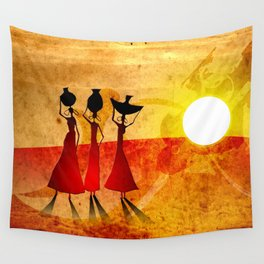 Africa retro vintage style design illustration Wall Tapestry