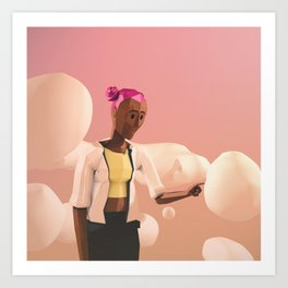 Day 0274 /// cloudpoke Art Print