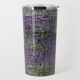 Lavender Hues Abstract Travel Mug