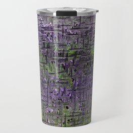 Lavender Hues Abstract Travel Mug