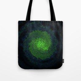 green galaxy Tote Bag