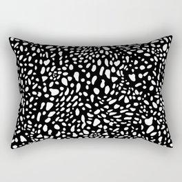 BLACK AND WHITE SALAMANDER SKIN Rectangular Pillow