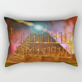 Ancient Secrets THOTH 3D Scifi Egyptian Rectangular Pillow