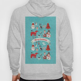 Christmas icons illustration Hoody