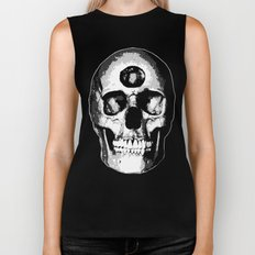 Third Eye Bones (Black and White Edition) Biker Tank