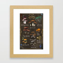 Skyrim Mycology Poster Framed Art Print