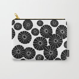 Abstract Hand Drawn Black and White Drawing by Emma Freeman Designs Carry-All Pouch