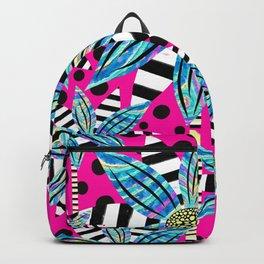 Pinwheel Flowers on Hot Pink Backpack