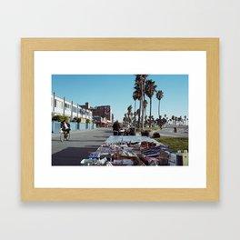 Venice Boardwalk Framed Art Print