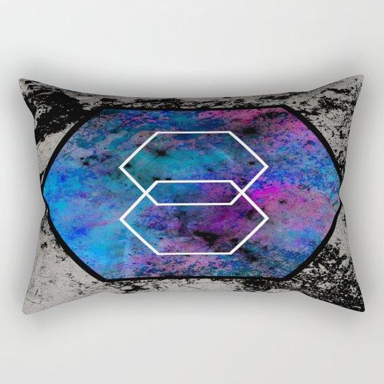 TEXtured HEX - Abstract, geometric, textured artwork Rectangular Pillow