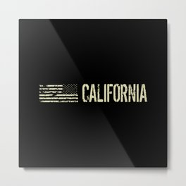 Black Flag: California Metal Print