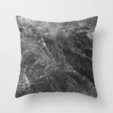 Marbling water Throw Pillow