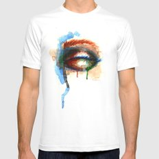 Watercolor Eye Mens Fitted Tee MEDIUM White