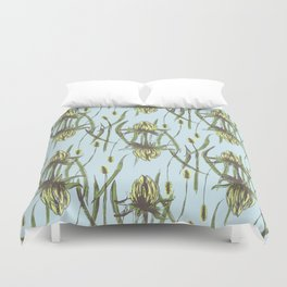 Stockholm Garden Flower Blooming Duvet Cover