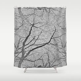 Interconnected Paths (grey) Shower Curtain