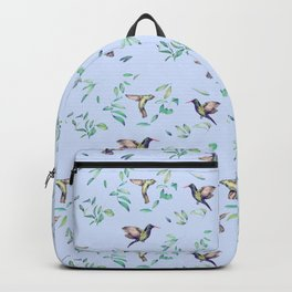 hummingbirds on celestial sky and leaves Backpack