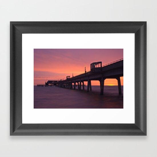 Sunrise at Deal Pier Framed Art Print