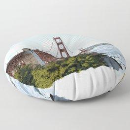 San Francisco Golden Gate Bridge Floor Pillow
