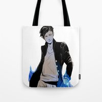 bane Tote Bags featuring Magnus Bane by The Radioactive Peach