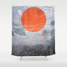 blue fog Shower Curtain