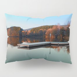Romantic evening at the lake III | waterscape photography Pillow Sham