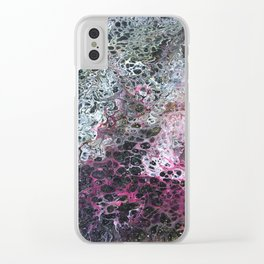 Acrylic pour 2 Clear iPhone Case