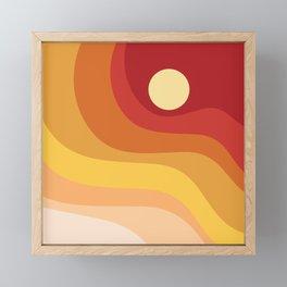 Geometric Shapes // Sunshine Framed Mini Art Print