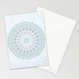 Teal Aqua Mandala Stationery Cards