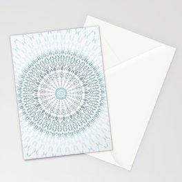 Teal Aqua Mandala Stationery Cards