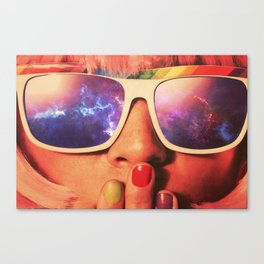Nebula Girl Canvas Print