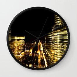 Night Skyscrapers Wall Clock