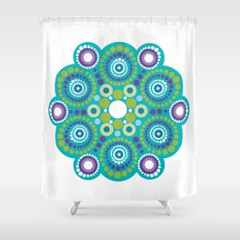 Mandala lots flower Shower Curtain
