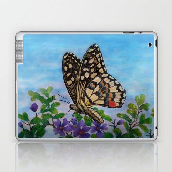 Chequered swallowtail  Laptop & iPad Skin