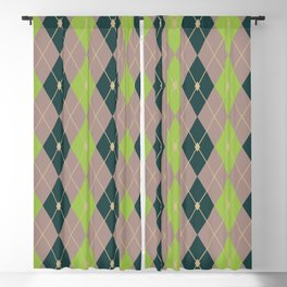 Rhombus Color Combination 2 Blackout Curtain