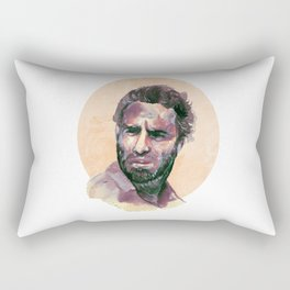 Rick Grimes Walking Dead Illustration By Cristina Martinez of Cautiously Obsessed Rectangular Pillow