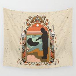 """Mandalorian"" by Cassidy Rae Marietta Wall Tapestry"