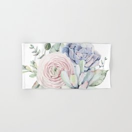Succulent Blooms Hand & Bath Towel