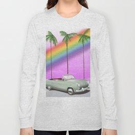 Vintage Car and rainbow, Long Sleeve T-shirt